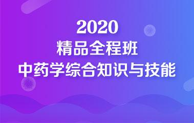 2020中药学综合知识与技能精品全程班
